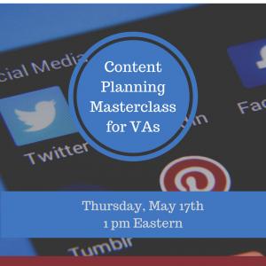 Content Planning Masterclass for VAs